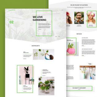 Gardening and Exterior Design Website Free PSD Template