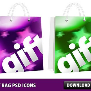 Gift Bag Free PSD icons