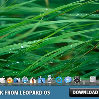 Glass Shelf Dock from Leopard OS in Photoshop