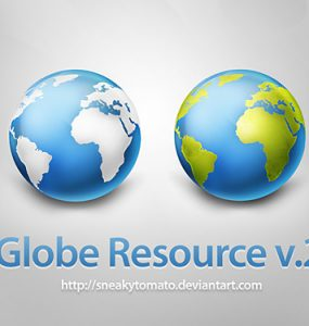 Globe Resource v2 Free PSD world, PSD, Nature, Map, Layered PSDs, Earth, Asia, 3D,