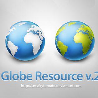 Globe Resource v2 Free PSD