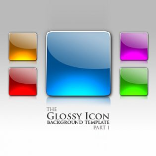 Glossy PSD Icons