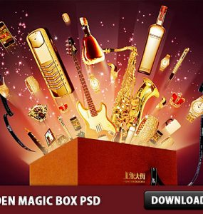Golden Magic Box PSD Watch, Time, Psd Templates, PSD Sources, PSD Set, psd resources, PSD images, psd free download, psd free, PSD file, psd download, PSD, Prize, Photo Manipulation, Phone, Objects, Mobile, Magic Box, Magic, Layered PSDs, Icon PSD, Icon, Guitar, Graphics, Golden, Gold, Free PSD, Free Icons, Free Icon, download psd, download free psd, Bundle, Box, Bottle,