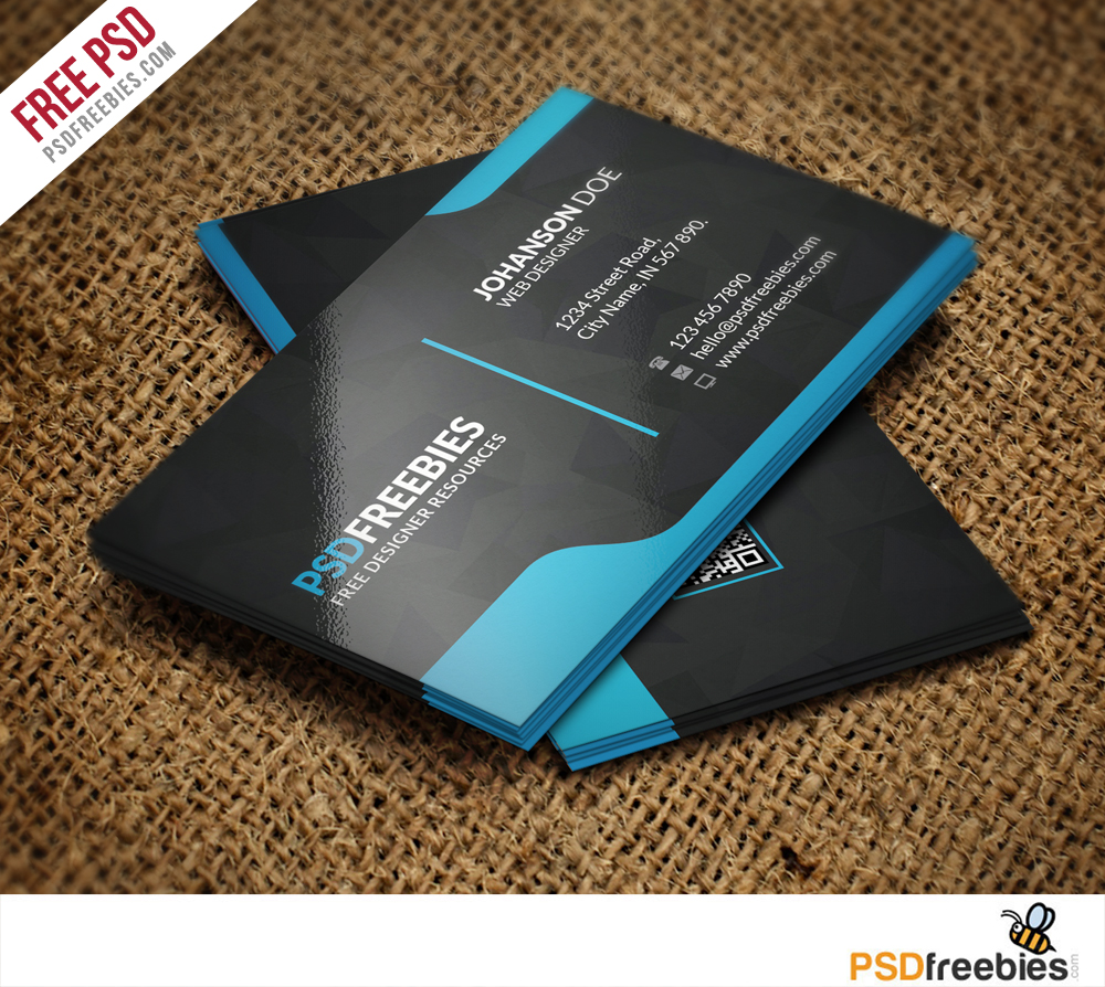 Graphic Designer Business Card Template Free PSD Download - Business card psd template