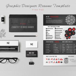 Graphic Designer Resume Template Free PSD