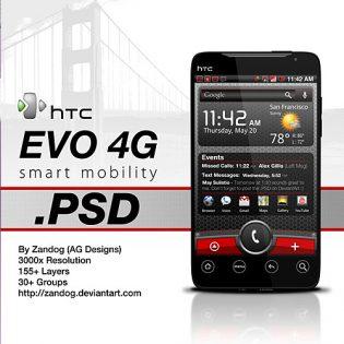 HTC EVO 4G Free PSD