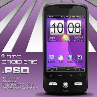 HTC Eris Smartphone PSD