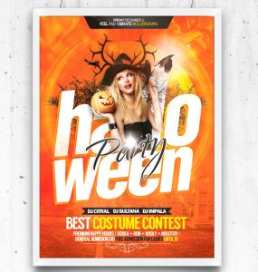 Halloween Party Flyer Free Template PSD Template, Stylish, Resources, Quality, PSD, Print, Poster, Party, original, Modern, Holiday, hi-res, HD, Halloween, Graphics, Fresh, Freebies, Free PSD, Free, flyer template, Flyer, Design, Creative, Brochure,