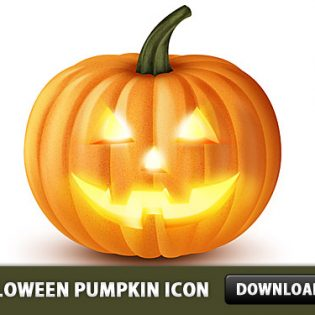 Halloween Pumpkin Icon PSD