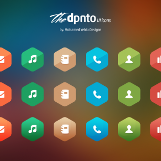 Hexagonal Freebie Icons Set PSD
