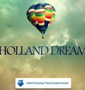 Holland Dreams PSD file Sky PSD Photo Manipulation Layered PSDs Icons Cloud Baloon