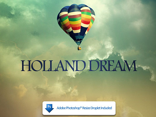 Holland Dreams PSD file Sky, PSD, Photo Manipulation, Layered PSDs, Icons, Cloud, Baloon,