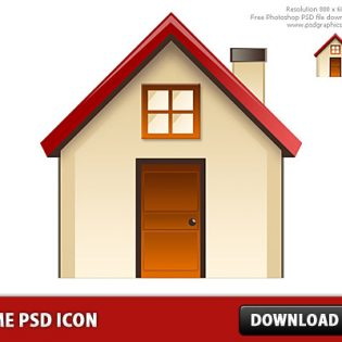 Home icon Free PSD