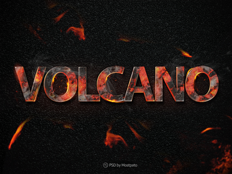 Burning Text Effect PSD Freebie