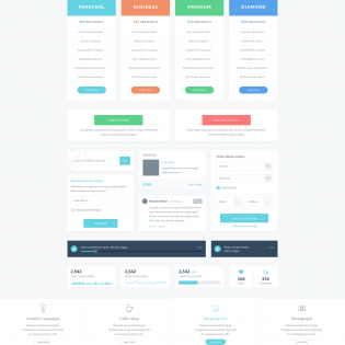 Huge UI Elements Kit PSD Freebie