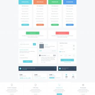 Huge UI Elements Kit PSD Freebie