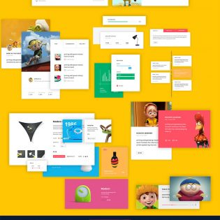 Huge UI Free PSD Kit for Corporate News and Ecommerce Websites