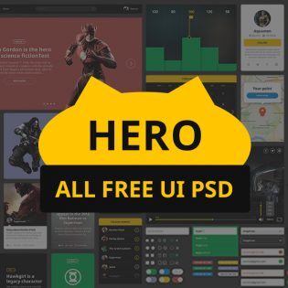 Huge UI Kit Collection Free PSD