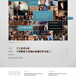 IMDB Movie Page Free PSD