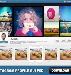 Instagram Profile GUI PSD Web Resources, Web Elements, User Profile, User Interface, UI, Template, Resources, Psd Templates, PSD Sources, psd resources, PSD images, psd free download, psd free, PSD file, psd download, PSD, Profile, Photoshop, Layered PSDs, Instagram GUI, Instagram, GUI, Graphical User Interface, Free Resources, Free PSD, download psd, download free psd, Adobe Photoshop,