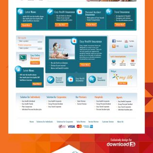Insurance Solution Company Website Free PSD Template