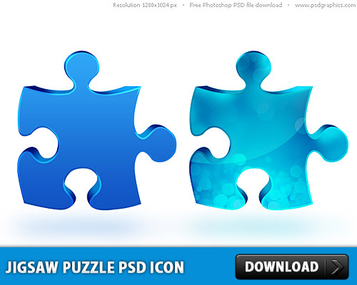 Jigsaw Puzzle PSD icon