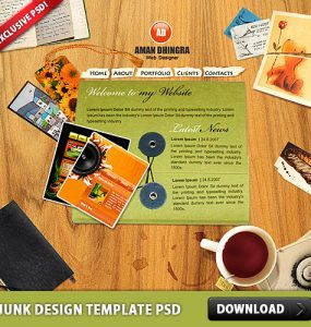 Junk Design Template PSD www, Website Template, Website, Web Template, Web Resources, Template, Psd Templates, PSD Sources, psd resources, PSD images, psd free download, psd free, PSD file, psd download, PSD, Paper, Objects, Layered PSDs, Junk, Free PSD, Flash Template, download psd, download free psd, Dirty, Desk, Creative, Card,