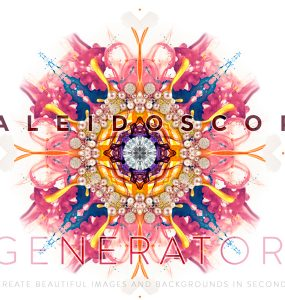 Kaleidoscope Background Generator PSD unique smart object Resource random psd image PSD Pattern Kaleidoscope Graphics generator Freebie Free PSD Design Customizable Creative Background Art amazing Abstract