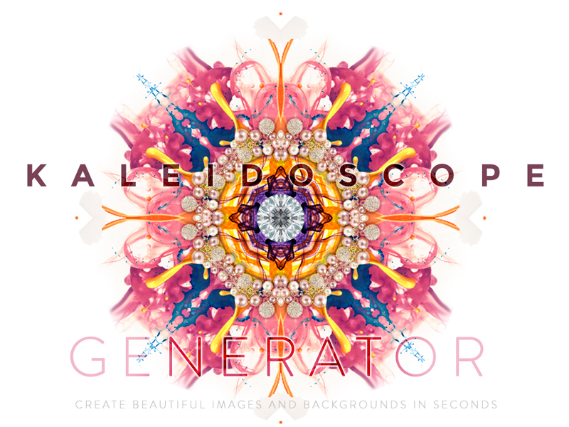 Kaleidoscope Background Generator PSD