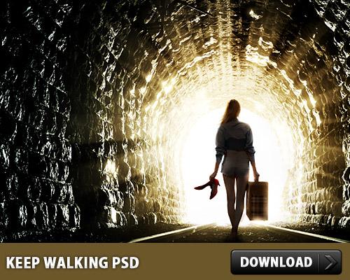 Keep Walking Free PSD Surreal, Sunburst, Sunbeam, Psd Templates, PSD Sources, psd resources, PSD images, psd free download, psd free, PSD file, psd download, PSD, Photo Manipulation, Manipulation, Light, Layered PSDs, Girl, Free PSD, download psd, download free psd,