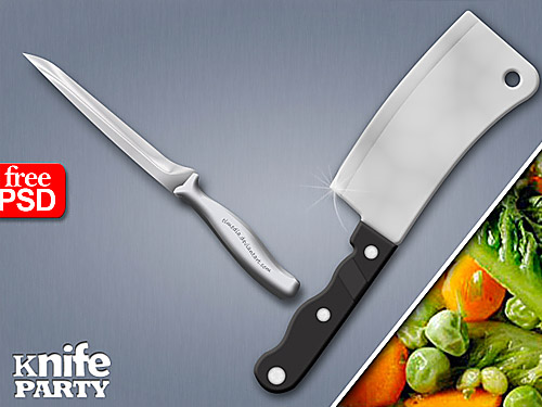 Kitchen Knife Free PSD