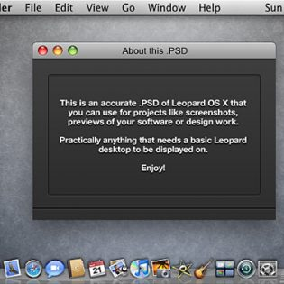 Leopard OS X Screenshot PSD