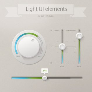 Light UI Controls PSD File