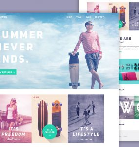 Longboard Website Template Free PSD