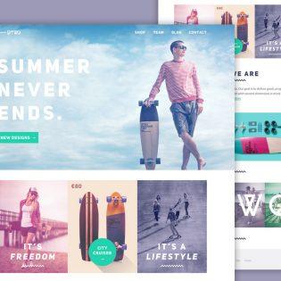 Longboard Website Template Free PSD