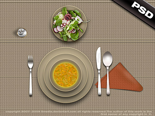 Restaurant Lunch Table PSD Table, Restaurant, Psd Templates, PSD Sources, psd resources, PSD images, psd free download, psd free, PSD file, psd download, PSD, Plate, Objects, Lunch, Layered PSDs, Knife, Kitchen, Free PSD, Food, download psd, download free psd,