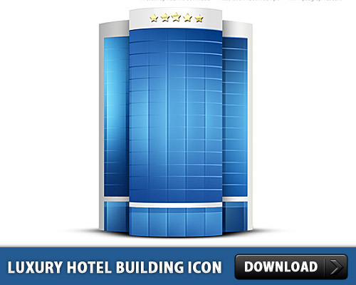 Luxury Hotel Building Icon PSD
