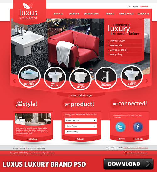 Luxus Luxury Brand Free PSD Template www, Website Template, Website, Web Templates, Web Resources, Web Layout, Web Design, Web, Templates, Sanitary, Psd Templates, PSD Sources, psd resources, PSD images, psd free download, psd free, PSD file, psd download, PSD, Professional Website, Professional Web Template, Modern Web Design, Luxury Brand, Luxury, Layout, Kitchen, Free PSD, download psd, download free psd, Bathroom,