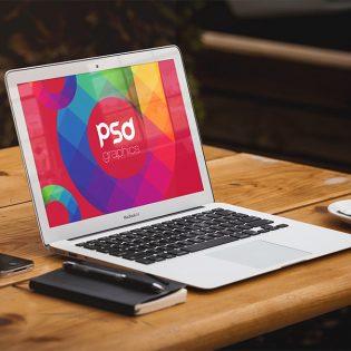 Macbook Air Mockup Free PSD Graphics