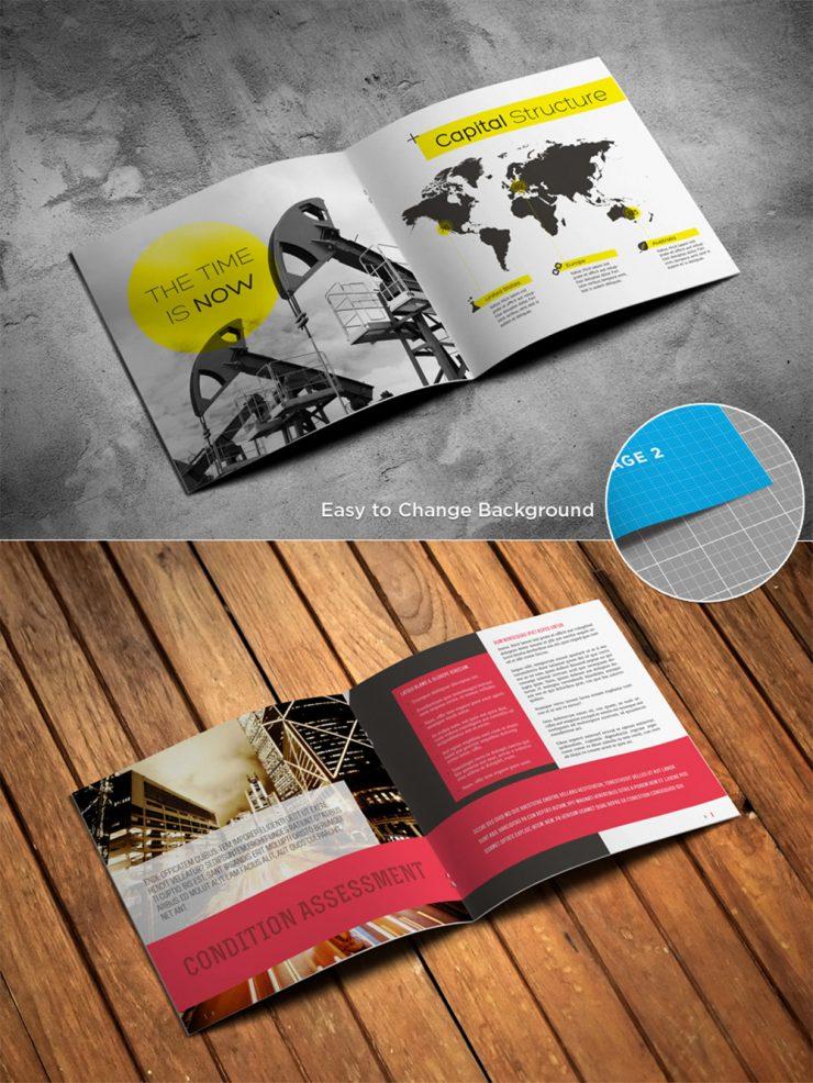 Magazine Brochure Catalog Free Mockup PSD Template