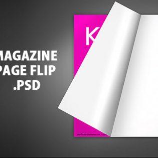 Magazine Page Flip PSD