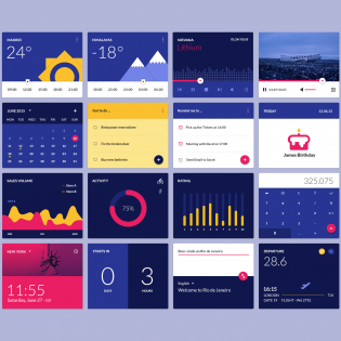 Material design widgets PSD UI Kit Freebie
