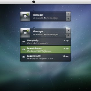 Messages Notification Box User Interface PSD