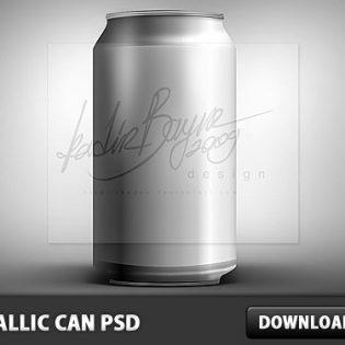 Metallic Can PSD