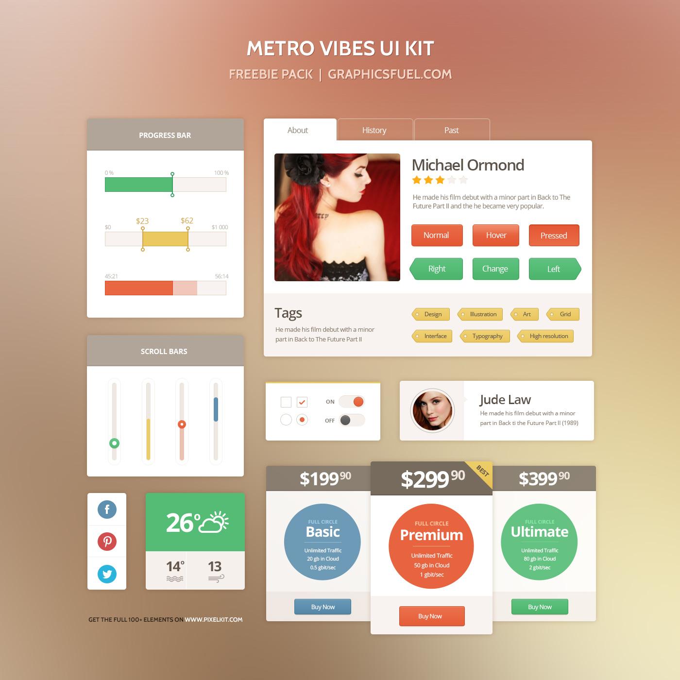 Metro UI Freebie PSD Kit