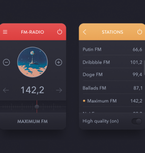 Mini Radio FM Station App PSD widget Web Resources Web Elements Web Design Elements Web User Interface unique ui set ui kit UI elements UI tuning radio Stylish station Sound Resources radio widget radio station radio fm Radio Quality phone app pack original new Music Modern Mobile App list app Interface GUI Set GUI kit GUI Graphical User Interface Fresh free download Free fm widget FM Entertainment Elements detailed Design Resources Design Elements Design Dark Creative Clean Application App