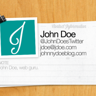 Mini Web Contact Card PSD