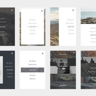 Minimal Mobile Menu UI Set Free PSD
