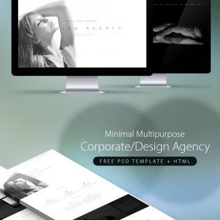 Minimal Multipurpose Corporate Agency PSD Template + HTML