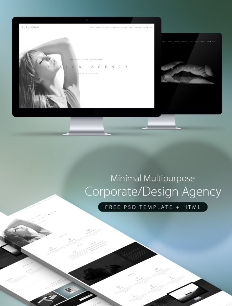 Minimal Multipurpose Corporate Agency PSD Template + HTML